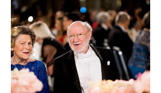 William C. Campbell beside his wife, Mary at the Nobel Banquet table of honor.