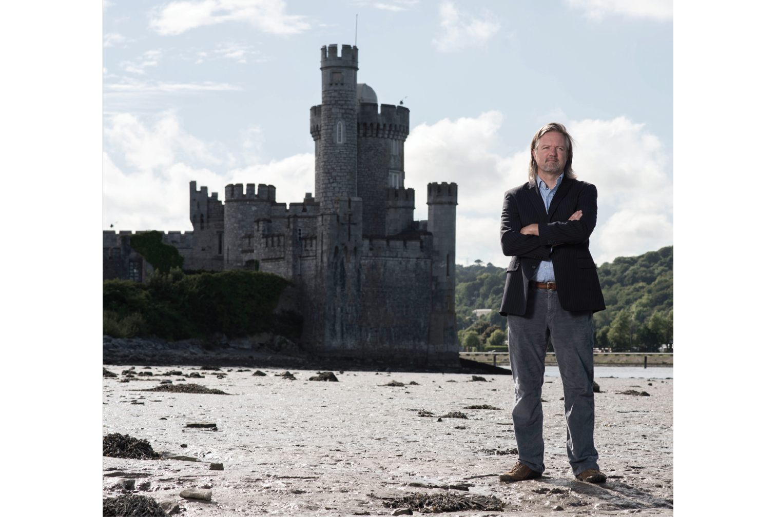 Nicholas Allen, Burns Scholar, Spring 2010, photographed at Blackrock Castle on the banks of the River Lee in County Cork.