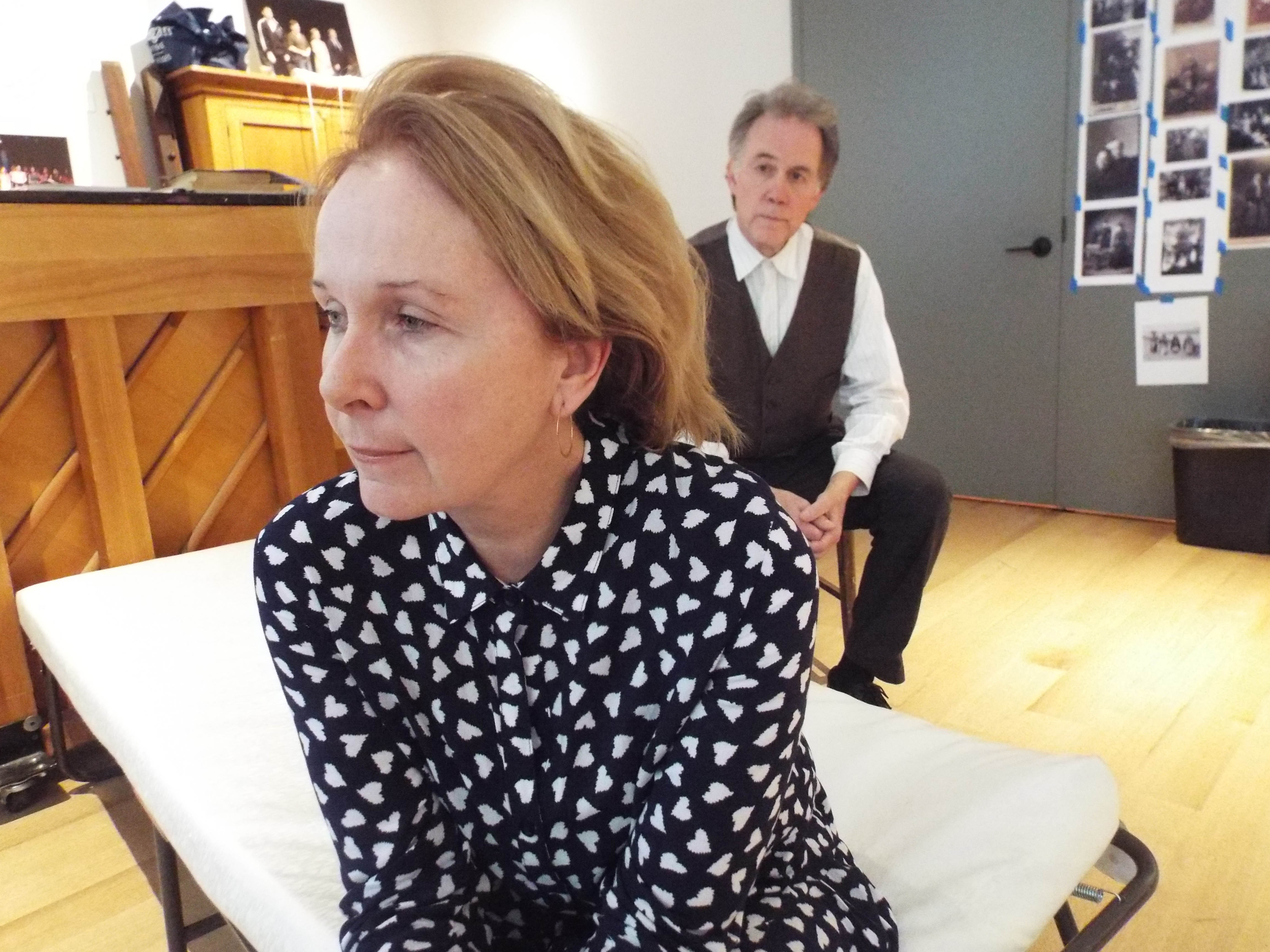 Kate Burton and Boyd Gaines, who play Gretta and Gabriel.