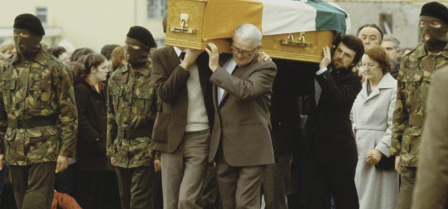 A still from Bobby Sands: 66 Days at Sands's funeral in Belfast.