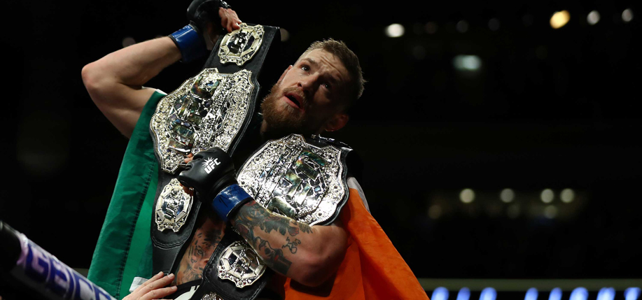 Dubliner Conor McGregor is the first UFC fighter to hold world championships in two weight divisions.