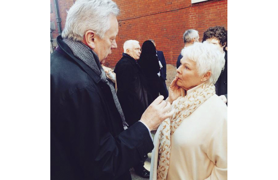 Chatting about the movie Philomena Dame Judi Dench.