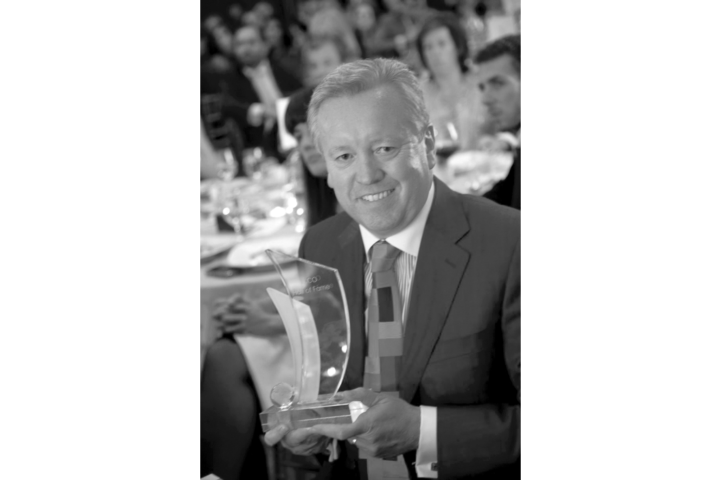 John with the ICCO Hall of Fame award. ICCO is the global association for the PR industry.