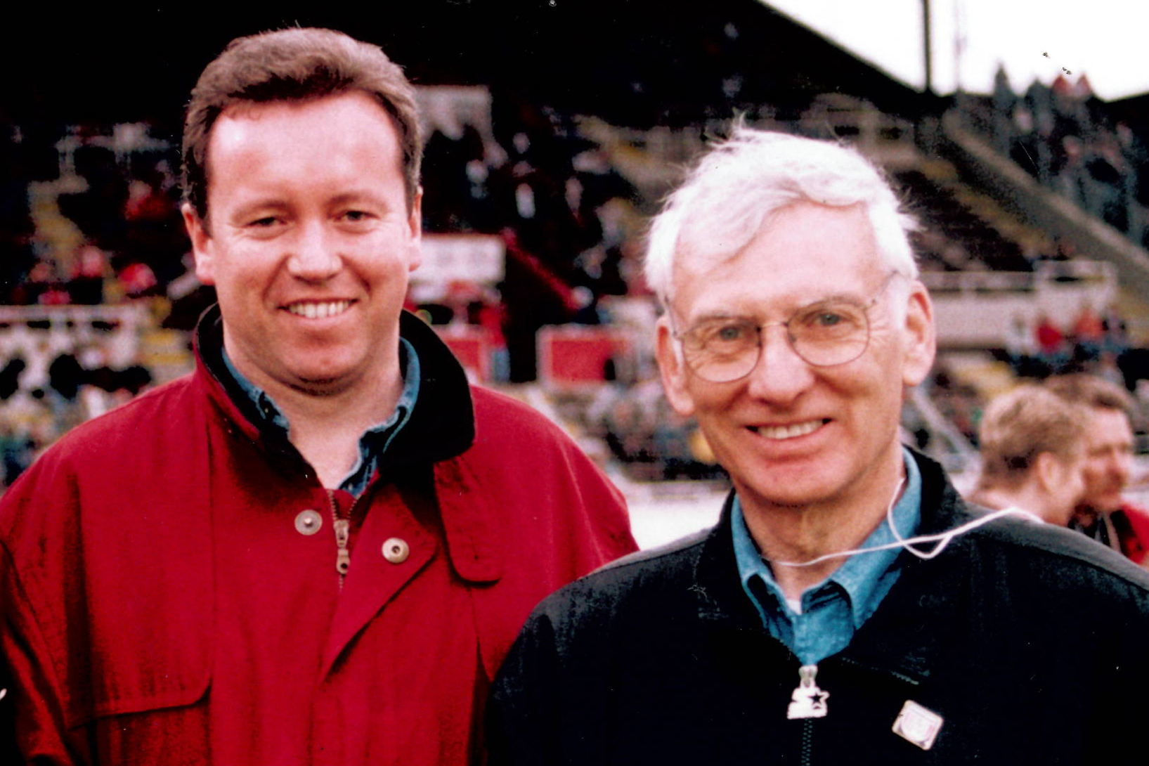 With Steelers' owner Dan Rooney.