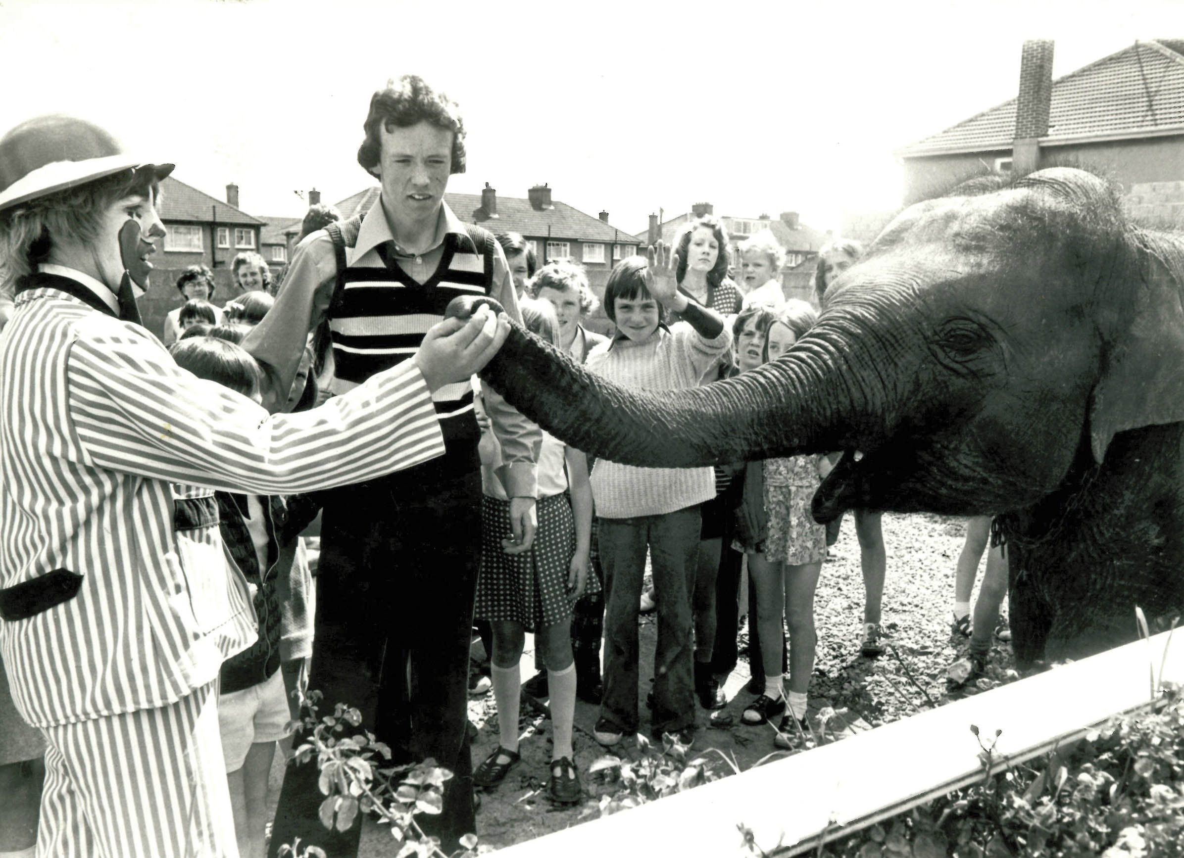 Showing early signs of a flair for publicity. John persuaded Fossetts famous circus to bring an elephant and clowns to a children's birthday party at his parents' home. He was 16.