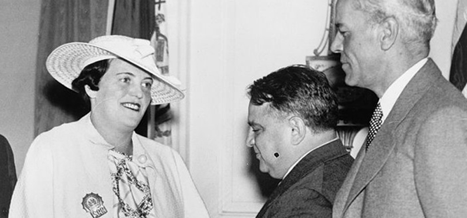 Shanley being congratulated by Mayor La Guardia, 1937. Photo: Library of Congress.