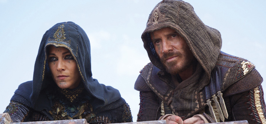Michael Fassbender, right, in Assassin's Creed.