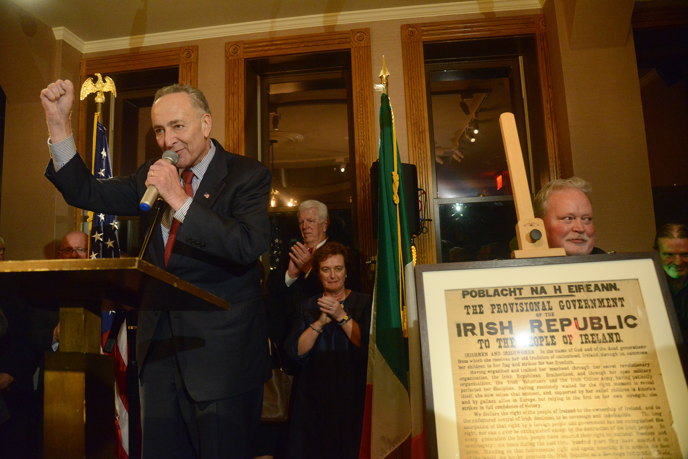 Senator Chuck Schumer launches the New York Rising commemorations in January. (Photo: James Higgins)