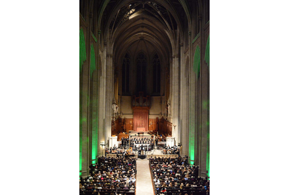 Grace Cathedral in San Francisco during the Ireland's Poet Patriots concert.