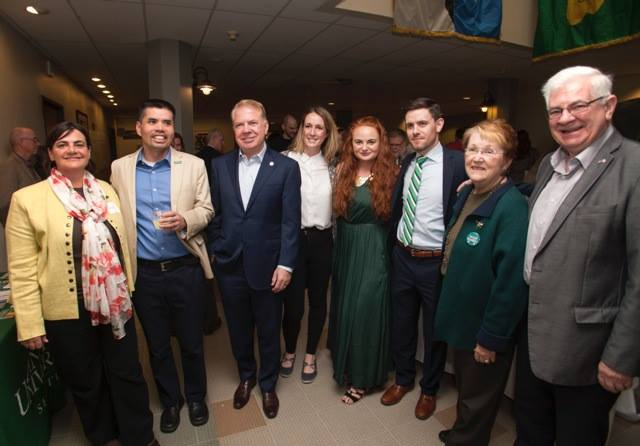 Seattle Mayor Ed Murray, third from left, attends Antioch University's Easter Rising commemoration in Seattle with members of the city's Irish community.