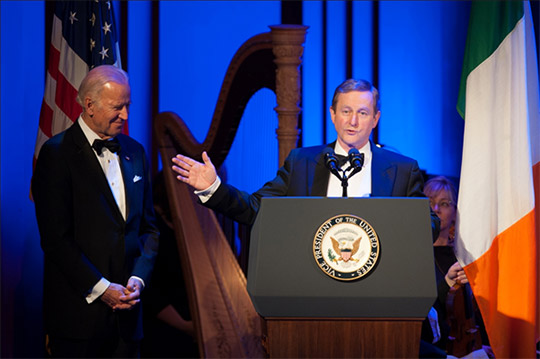 Joe Biden and Enda Kenny open Ireland 100.