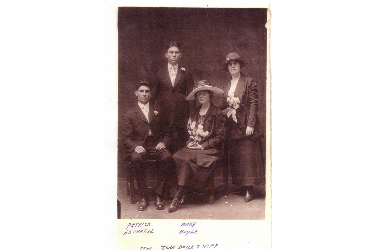 Kevin's  maternal grandparents from Dungloe. Seated are Mariah and Patrick.