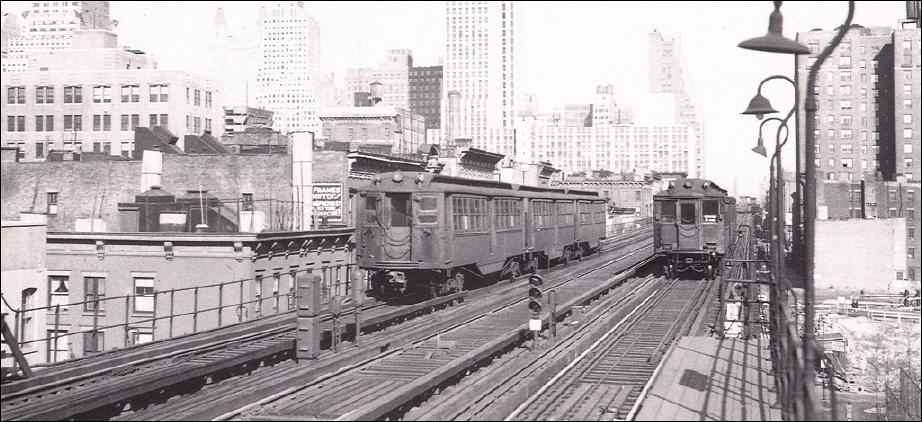 The Second Avenue El at 34th Street, December 1937. The Metropolitan Elevated Railway Company (formerly the Gilbert Elevated Railway Company) began to construct the Second Avenue line, the work actually being undertaken by Mills and Ambrose, the foundation contractors. Work began at the corner of Allen and Division streets on February 24, 1879. The first test train ran over the line from South Ferry to Second Avenue and 65th Street on January 15, 1880.