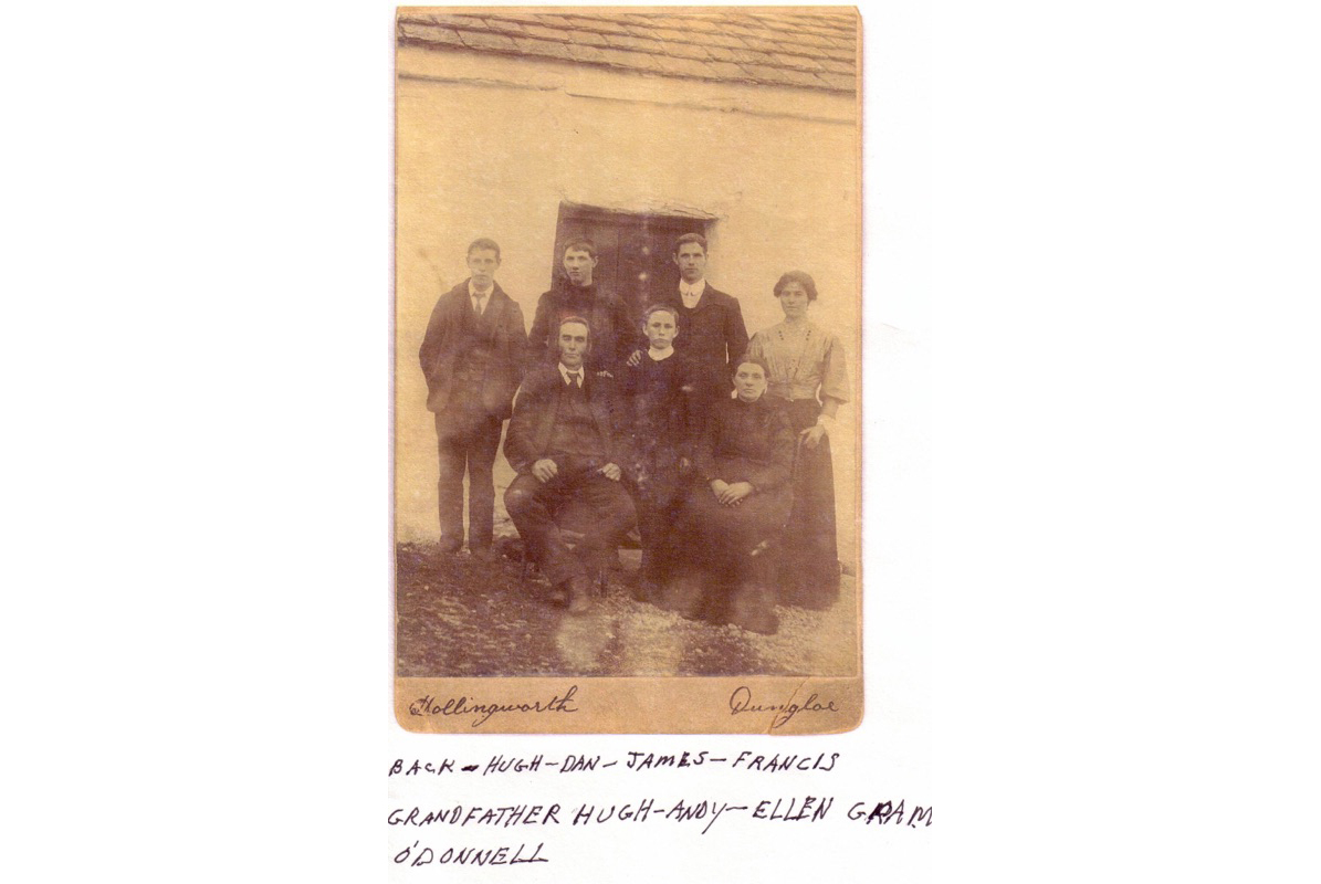 White's grandfather Patrick's family at their home in Dungloe.