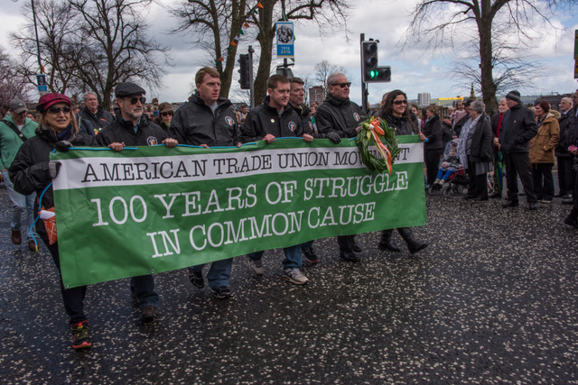 Commemorating 1916 and the participation of labor in the Irish struggle. Belfast, March 27, 2016.
