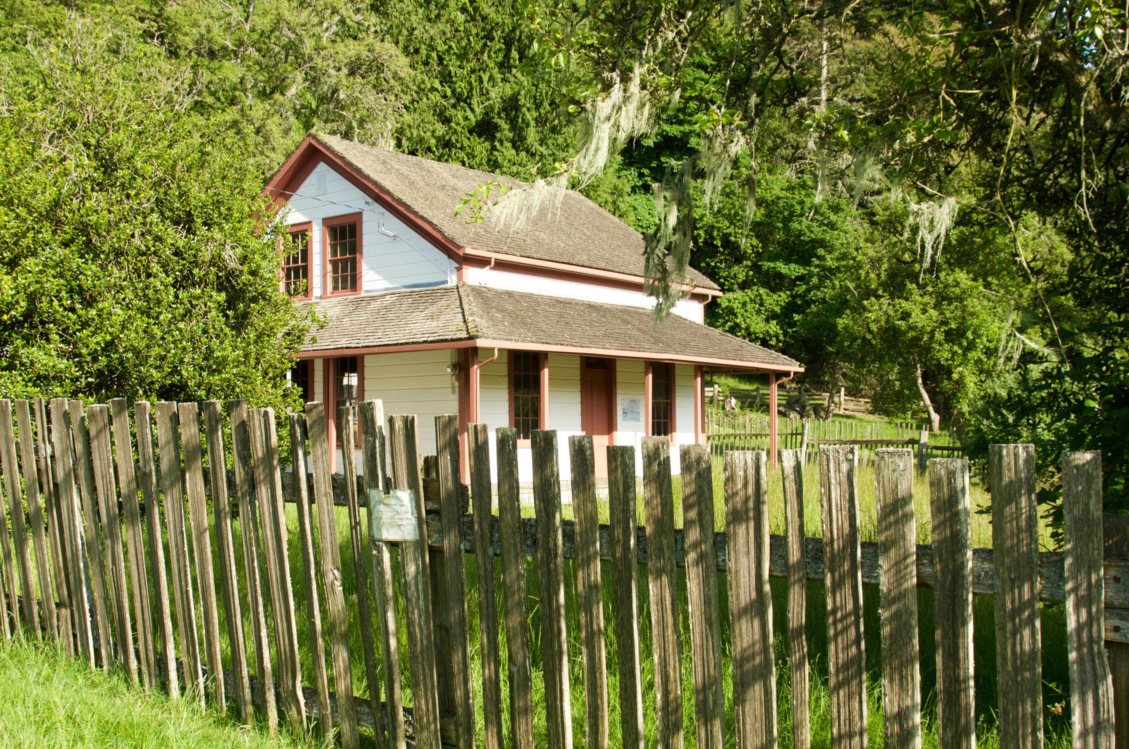 The original Ruckle homestead house in Ruckle Provincial Park.