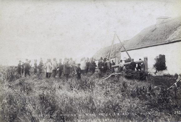 Eviction from the Vandeleur Estate in  Kilrush, Co. Clare,  c. 1888. Photos courtesy Sean Sexton.