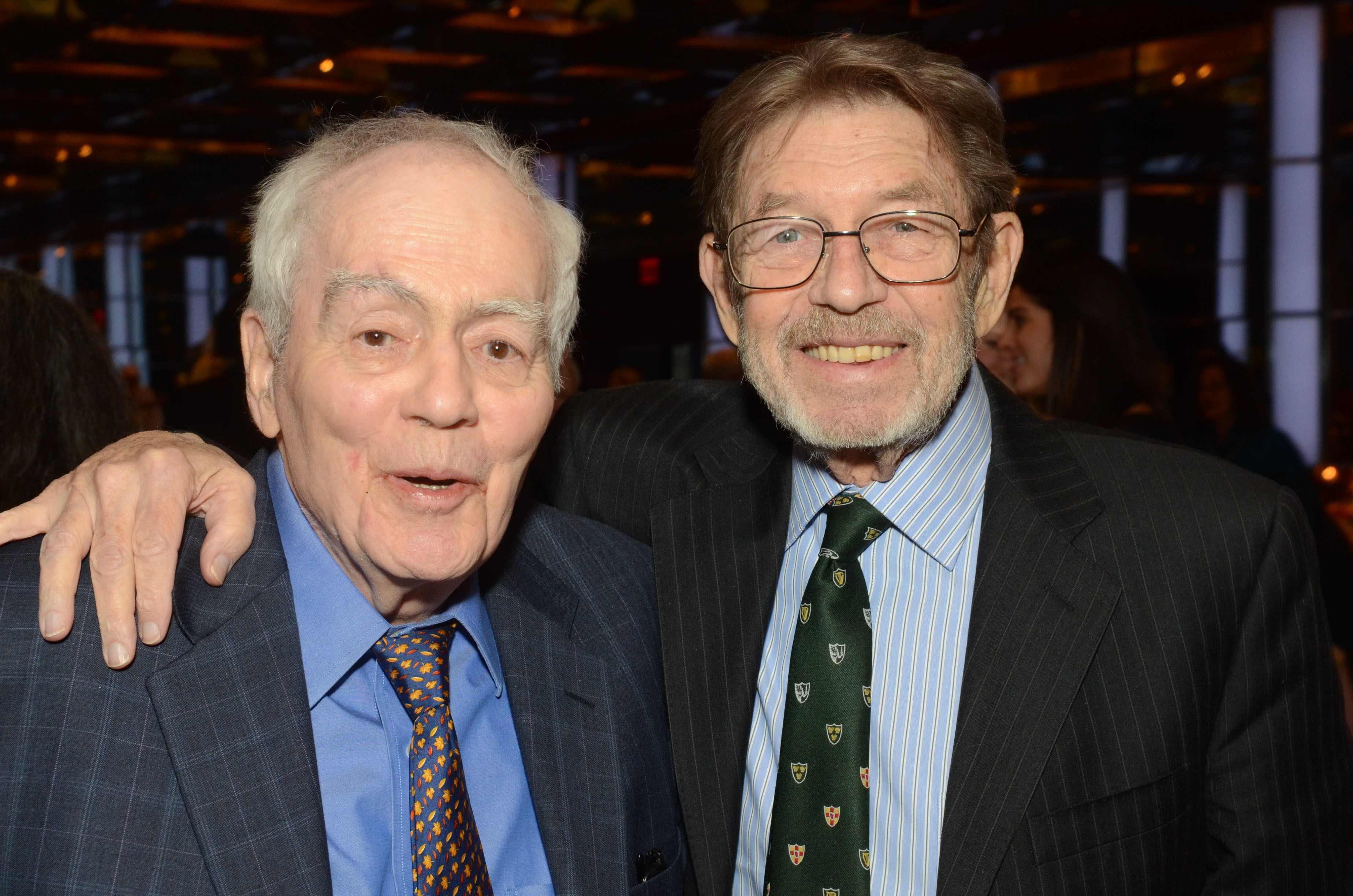 Breslin and Pete Hamill, another reporter credited with founding New Journalism, at the Glucksman Ireland House NYU Annual Gala, February 25, 2014 (Photos: James Higgins)
