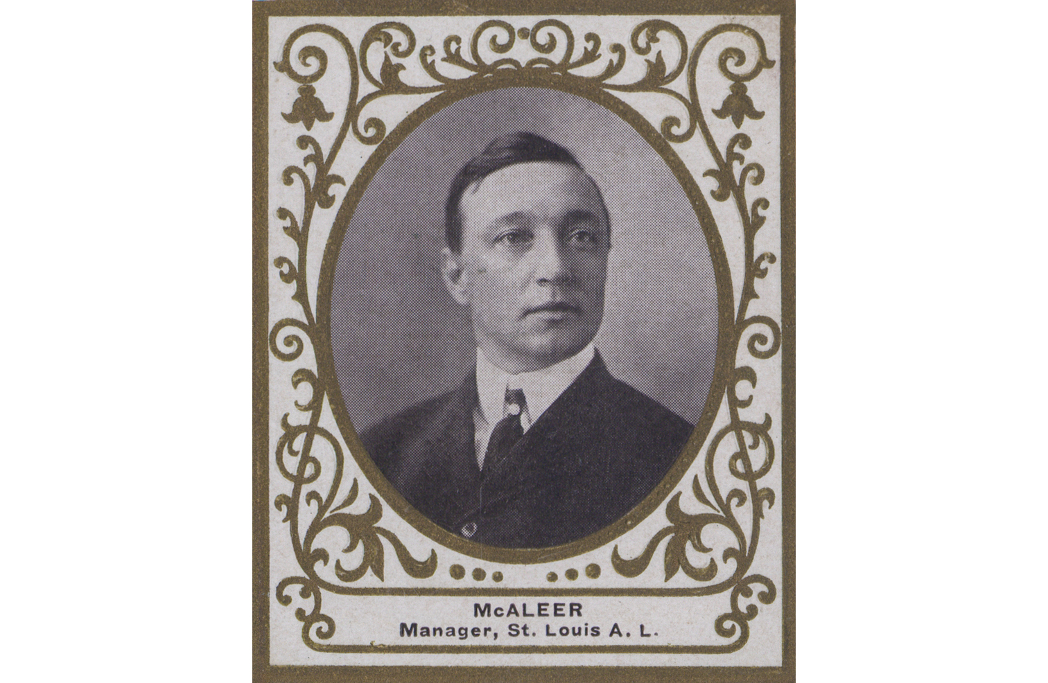 Jimmy McAleer, from a 1909 Ramly tobacco baseball card.