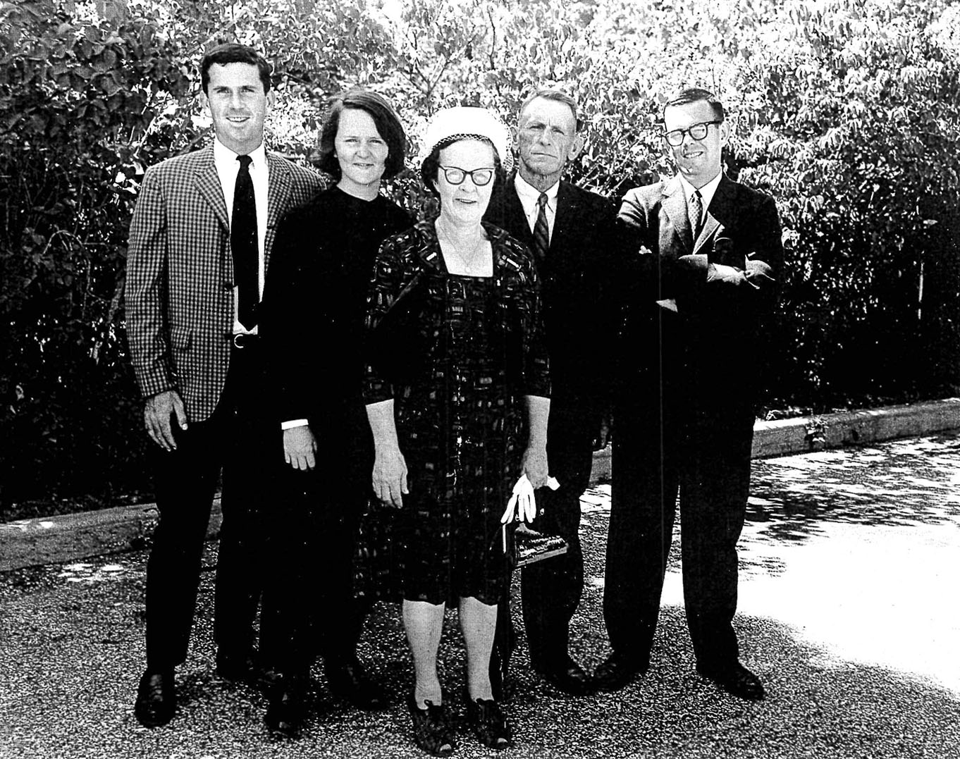 Sister Tesa,  second from left, with  (l-r) her brother John, mother Catherine,  father John, Sr., and brother Frank, on her day of entrance into the Sisters of St Joseph, in Brentwood, New York. Maureen, Sister Tesa's sister, is not pictured.