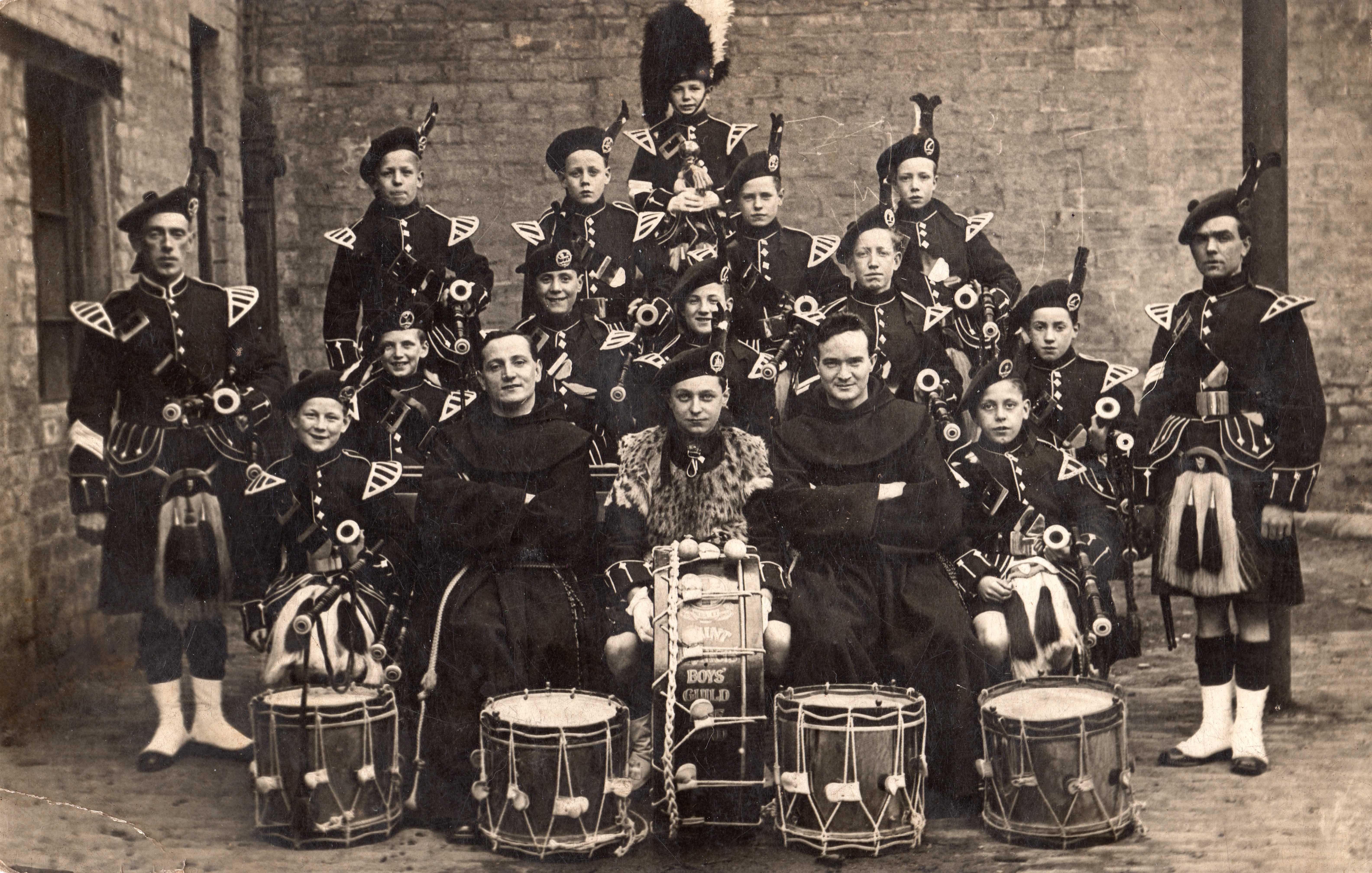 St Francis Pipe Band Mid 1920s