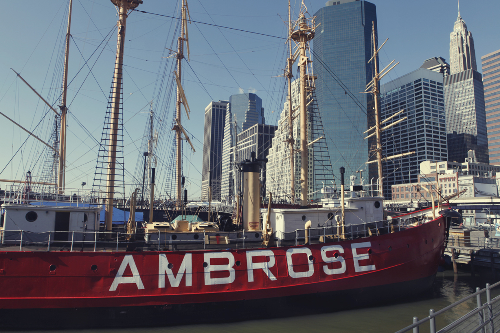 The lightship Ambrose at South Street Seaport Museum is now a National Landmark. (Photo: Sarah Coulter / courtesy South Street Seaport Museum Archives)