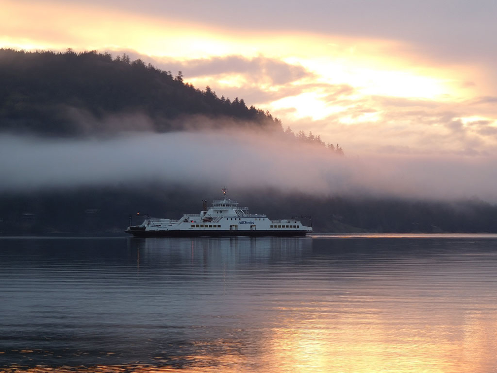 The Fulford Harbor ferry on Salt Spring Island.