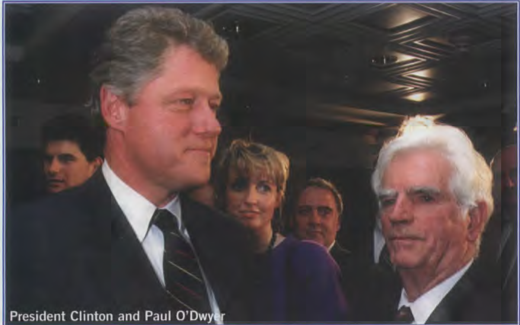 President Clinton and Paul O'Dwyer.