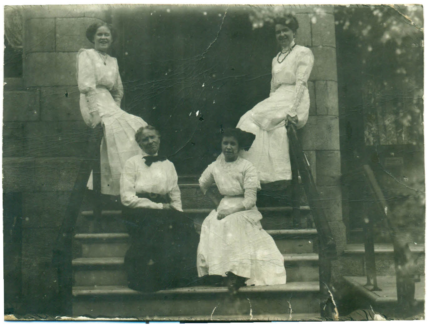 Mary Ellen Cullen (below left) and her daughters in Montreal.