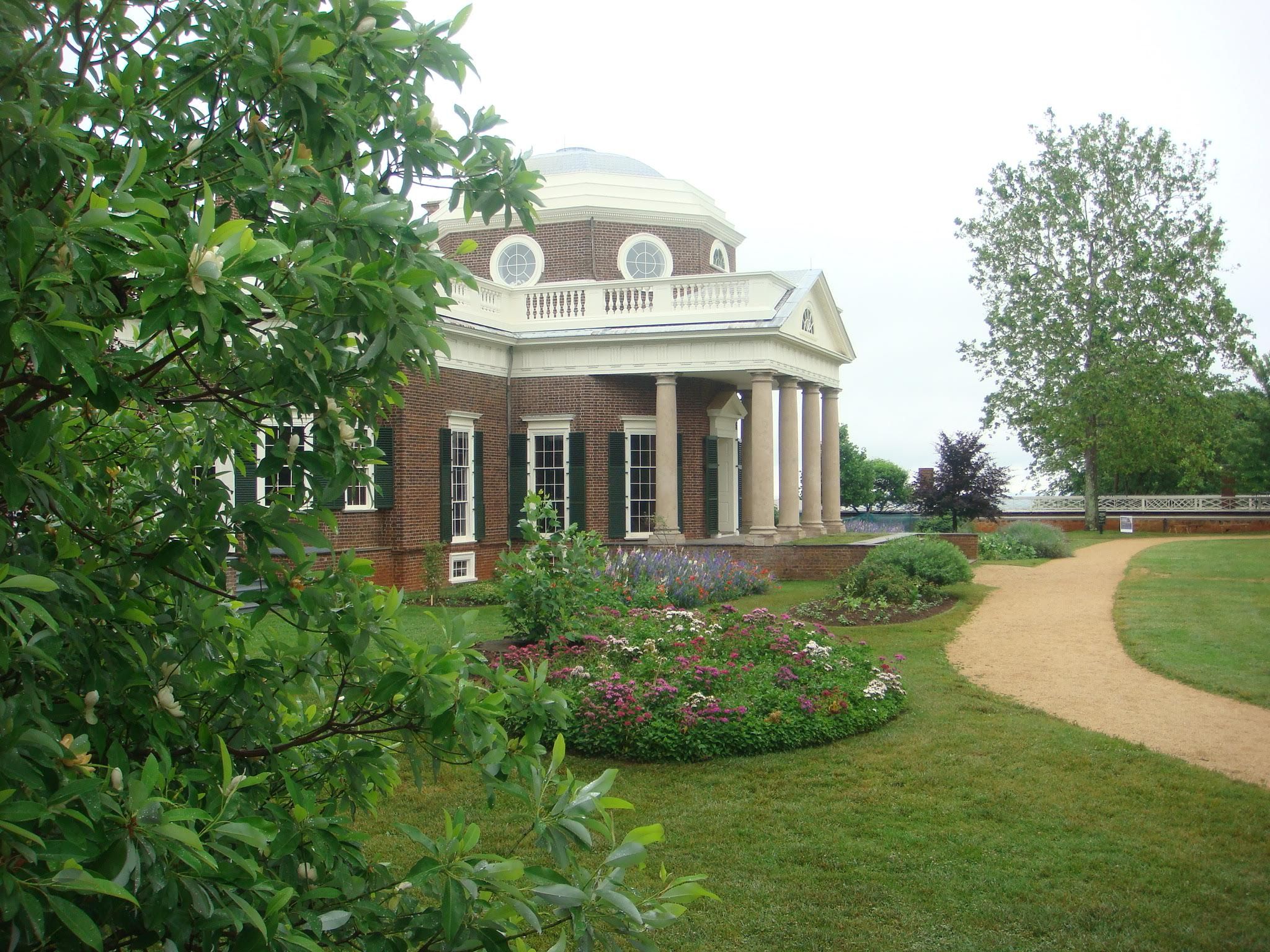 Monticello, home of Thomas Jefferson, the third President of the United States. A lot of Irish labor was used in building and maintaining the structure. (Photo courtesy of the author)