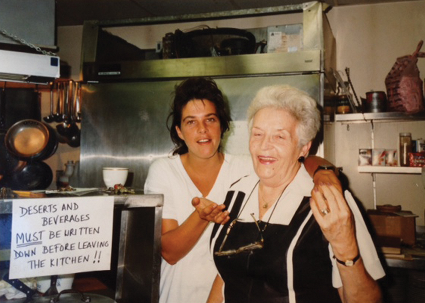 Barbara with her mother in 1988 when they both worked at the St. Botolph's Club, a private gentleman's club. Her mother, who passed away in 2004, had lived long enough to witness her daughter's blossoming career as a chef and restaurateur.