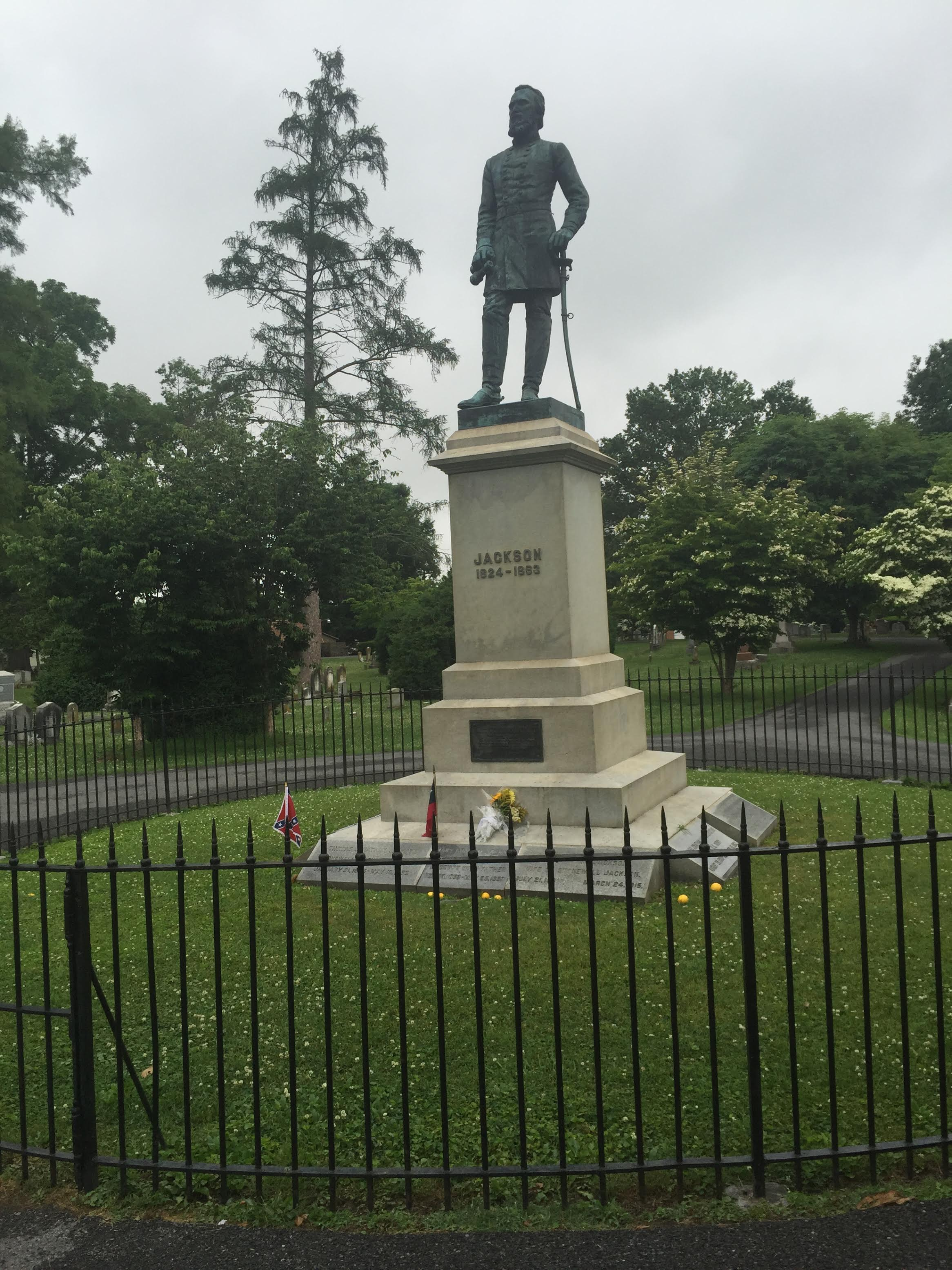 Stonewall Jackson's grave in Lexington Virginia. He served as a Confederate general under Robert E. Lee in the American Civil War. His ancestors came from County Armagh. (Photo courtesy of the author)