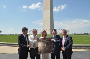 Ambassador Anne Anderson presents the commemorative plaque with the other attending dignitaries. (Photo: courtesy of the Department of Foreign Affairs)