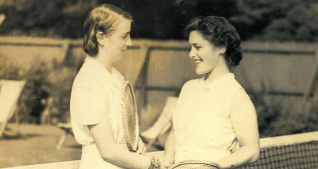 Rena Dardis, left, with her friend Peggy Blunden.