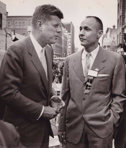 William Liebenow with JFK in New York.