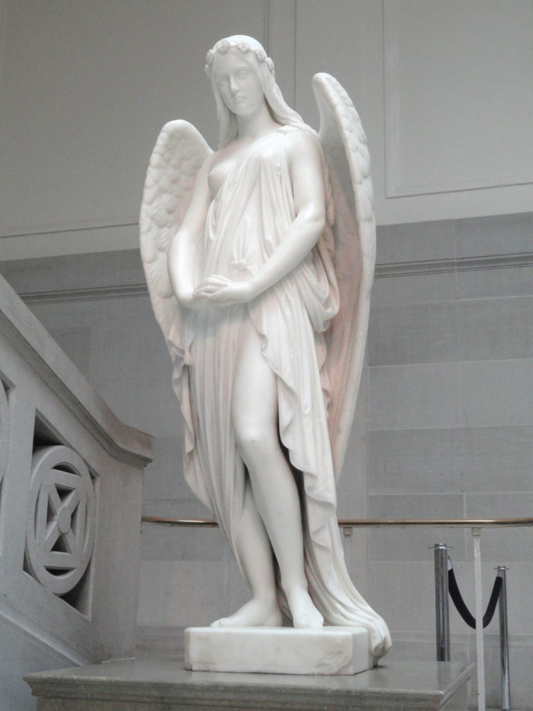 """Peri at the Gates of Paradise,""  marble, 1856, in the Pennsylvania Academy of the Fine Arts. (Photo: Wikimedia Commons)"