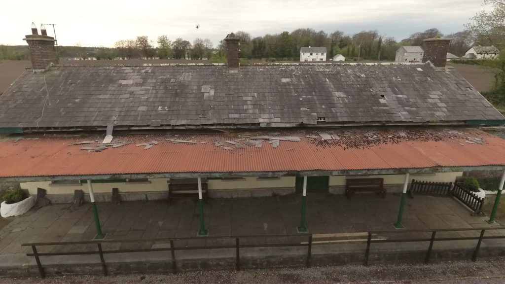 The roof of Ballyglunin station today.