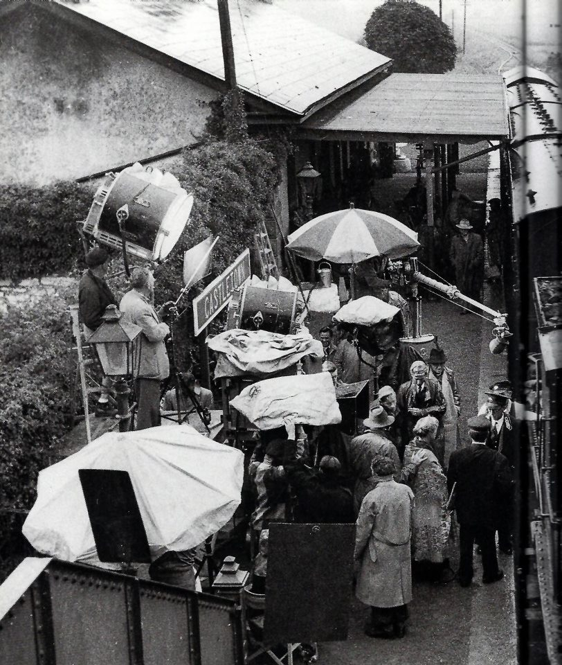 Filming The Quiet Man at Ballyglunin railway station, c. June 1951.