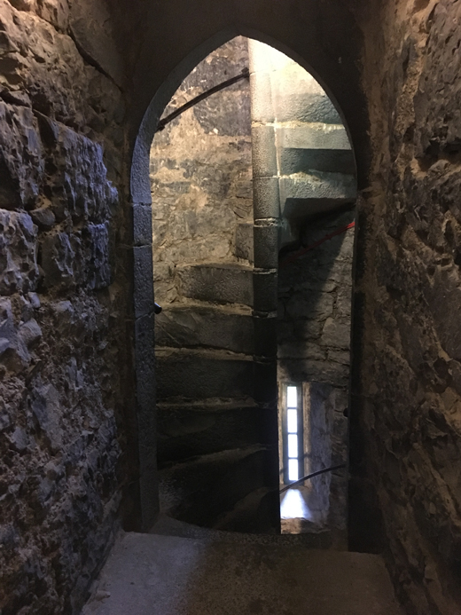 Winding Stair Inside The Thoor Ballylee Castle In County