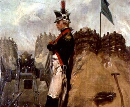 Alexander Hamilton (1757-1804) in the Uniform of the New York Artillery (Oil on Canvas: Alonzo Chappel)