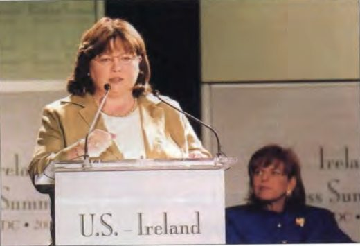 An Tenaiste Mary Harney, Minister for Enterprise Trade & Employment, giving her keynote address.