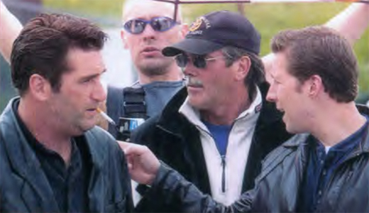 Daniel McCarthy talks to Daniel Baldwin on the set of Irish Eyes.