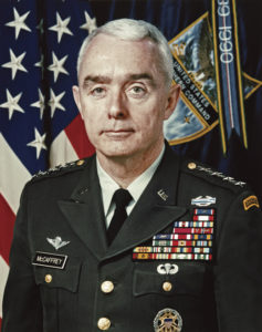General Barry Richard McCaffrey, who served as President Bill Clinton's Director of the Office of National Drug Control Policy.