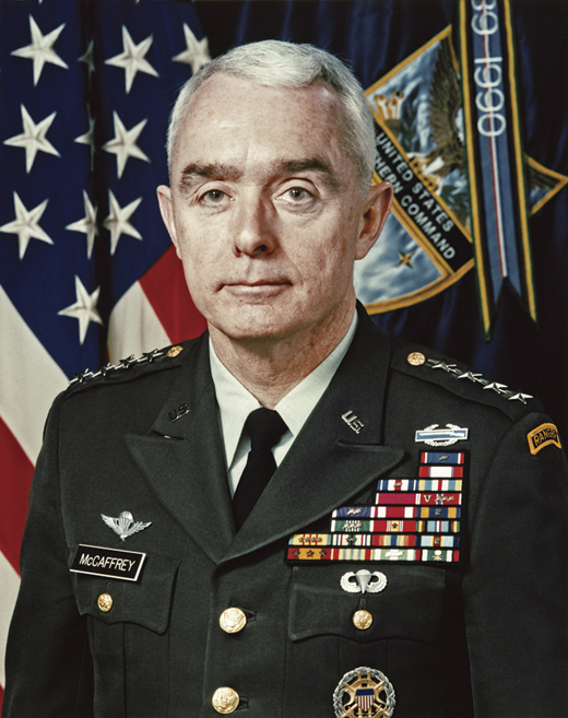 <em>General Barry Richard McCaffrey, who served as President Bill Clinton's Director of the Office of National Drug Control Policy.</em>
