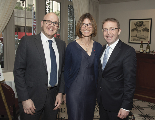 <em>Irish Counsel General Ciaran Madden, his wife Lana Fitzsimons and Rory Power of Enterprise Ireland.</em>