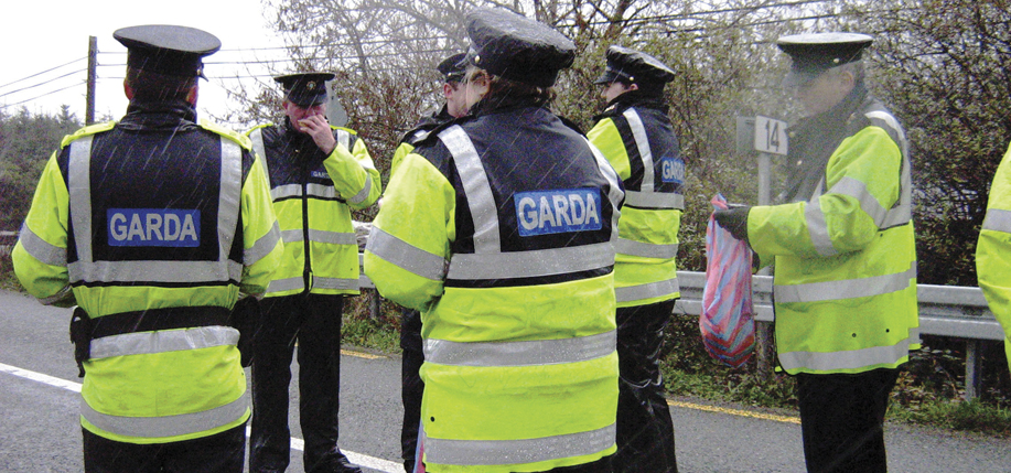 Members of the Garda Siochana, the police force of Ireland.