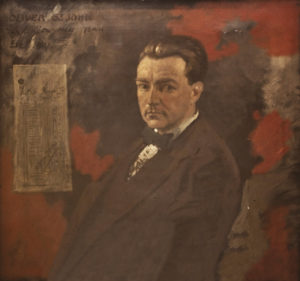 Portrait of the Irish poet Oliver St. James Gogarty, painted by Sir WIlliam Orpen, currently housed at the Royal College of Surgeons in Ireland.