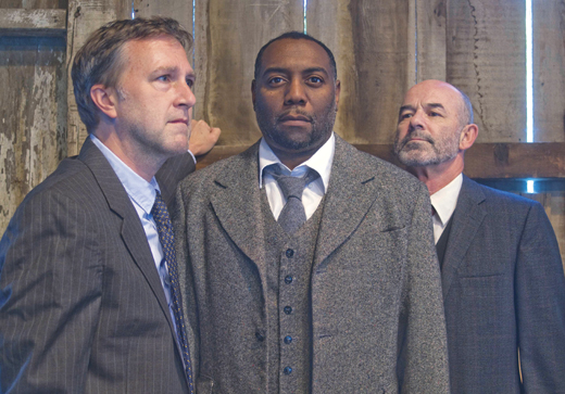 <em>Aaron Murphy, Dorian Lockett and Clive Worsley, who featureda production of </em>Hughie<em>, directed by Eric Hayes at St. Michael's Theatre, New Ross, that was played to a full house.</em>