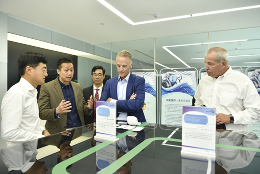 <em>Mike and team at Boston Scientific Innovation Center in Beijing.</em>
