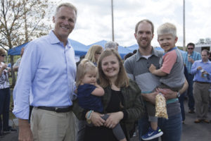 Mahoney with patient Emily Herman and her family.